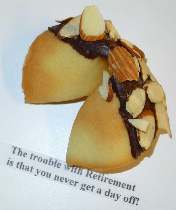 fortune cookie chocolate with almonds